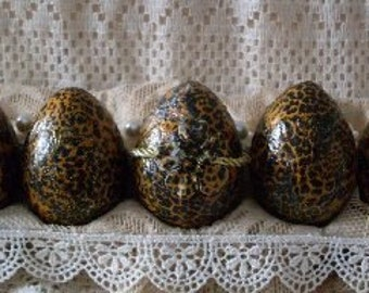 Shabby Chic Egg Decor Leopard Print Rue23paris Collection We Ship Internationally