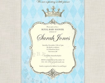 Royal Prince Baby Shower - You-Print Digital Invitation