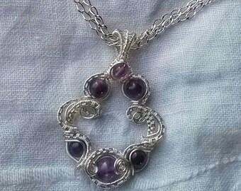 Amethyst baroque pendant
