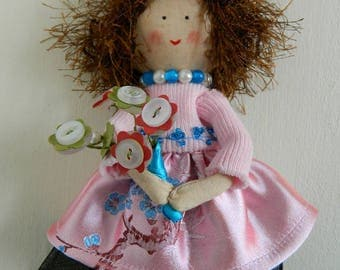 Prim Funky Antique looking doll dolly