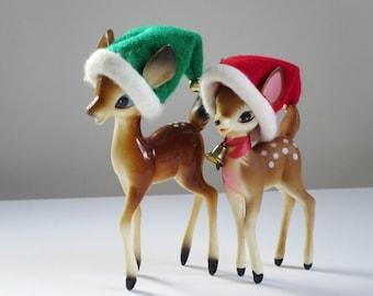 Reindeer Deer Elf Hats, Handmade Felted Elf Pixie Reindeer Hats, Kitsch Elf Hat for Dolls, Customizable Pixie Elf Hats with Bells