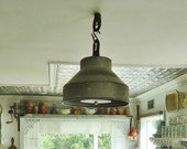 Farmhouse Style Light Antique Milk Can Strainer Repurposed Kitchen Light