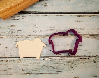 Baby Jesus in a Manger with Nativity Scene Cookie Cutter and Fondant Cutter and Clay Cutter