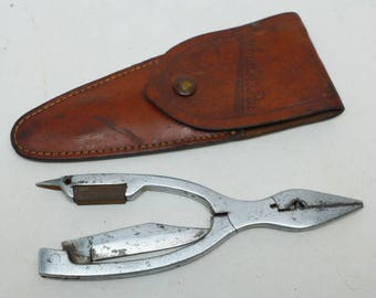Angler's Pal Fishing Tool with Case - Fishing Pliers - Vintage Fishing Tool