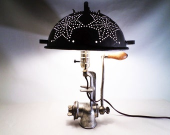 how to make a meat grinder lamp