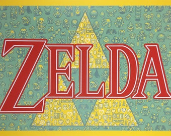 "A Link to the Past (Zelda inspired Silkscreen Print) - 12"" x 18"""