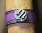 Iron Front/Antifa Arrows Bracelet with Scroll Border