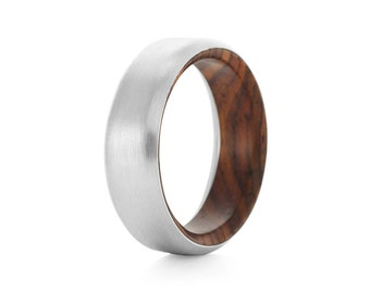 Runko Oval Palladium - Palladium & Wood Ring