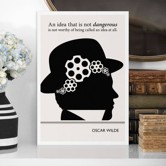 Modern Art Prints Oscar Wilde Quote Minimalist Poster Large
