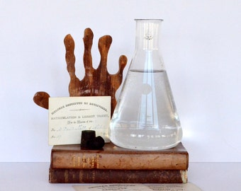 Vintage Pyrex Lab Flask Apothecary Chemistry 1000 ML Rocket Science 1960s 1970s