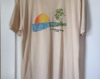 Vintage 80's Fort Lauderdale Beach T-shirt
