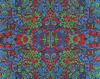 3D Flüssigkeit L psychedelischen Gobelin Tischdecke Wandkunst riesig - 2 Größen erhältlich