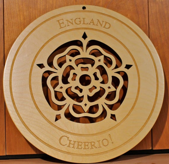English Rose Wall Art, Warm Pot Trivet, Pattern T48, Laser Engraved, Paul Szewc, Masterpiece Laser