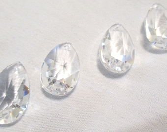 1 CLEAR 28mm Clear ASFOUR Chandelier Crystal Prism - One 28mm Clear Chandelier Crystals - YCD872