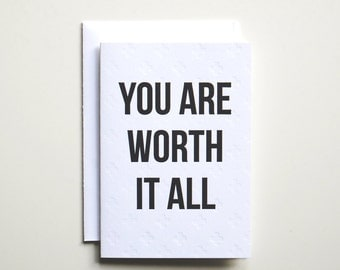 Worth It All Letterpress Card