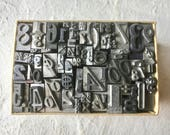 Box of Letterpress Math for Printing Stamping Collage Home Decor