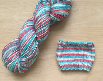 Discounted self-striping yarn - old americana colorway