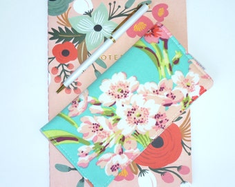 Checkbook Cover. Wallet. Receipt Holder. Bliss Bouquet