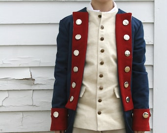 Revolutionary War Soldier Costume - READY TO SHIP - Boy's Size M (8-10) - Colonial Costume - Patriot