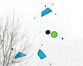 Night Sky Suncatcher,Stained glass suncatcher,Blue suncatcher,Art mobile,Stars suncatcher,Baby mobile,Constellation mobile,Constellation art