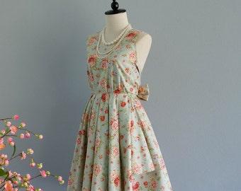 Backless floral dress flowered party sundress