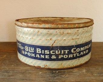 Tru-Blu Biscuit Company - Krause's Candies tin - XL
