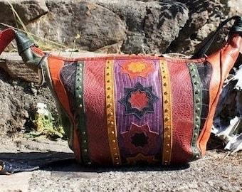 80's Sharif Western Studded Hobo Bag Purse