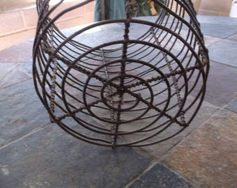 Wrought Iron basket, waste basket, planter