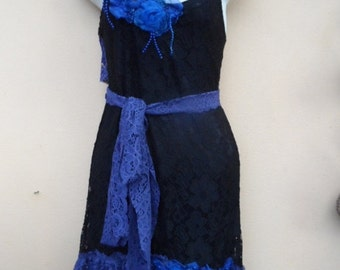 """20%OFF formal bohemian vintage gothic lace dress.....small to firm 36"""" bust..."""