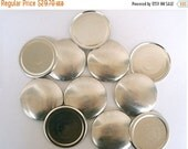 Yearend Clearance Sale Size 75  (1 7/8 inch) -  50 Cover Buttons  -  Flat Backs