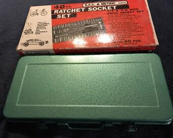 Vintage Ratchet Socket Set. Ratchet Set. Socket Set.