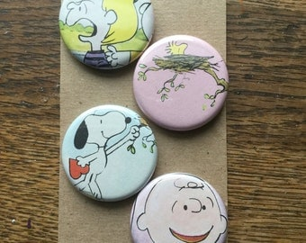 Charlie Brown Upcycled Magnets