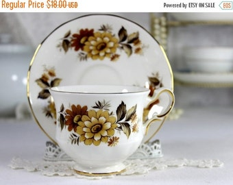 Queen Anne, Tea Cup, Teacup And Saucer, Vintage Bone China, English Tea Sets 12509