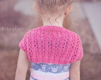 shrug knitting pattern, knitting patterns, bolero knit patterns, girl shrug pattern, patterns for girls, baby shrug pattern