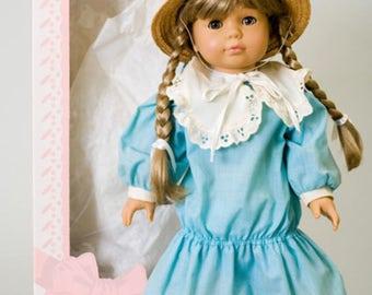 """Vintage Poor Little No Name Gotz Doll Excellent  20""""Unused Orig Box 662204 Blue"""