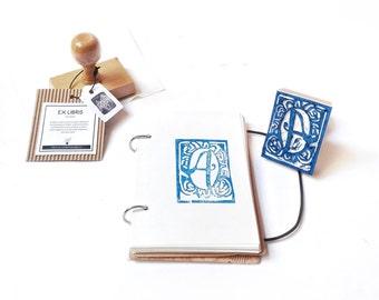 handcarved STAMP EX LIBRIS- customized stamp