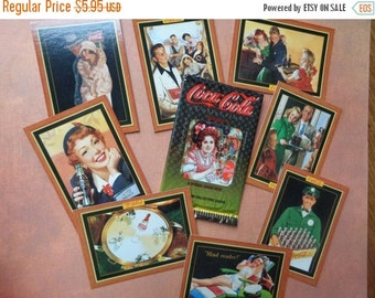 2016 SALE Set of Eight Collectible Coca-Cola Cards Coke Edwardian Card Advertising Ads Soda 1940's 1930's 1920's Artwork #13 120