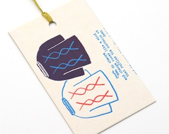 letterpress gift tag / steinbeck jumper / upcycled calendar / tag / swing tag / gift giving / single tag / letterpress print