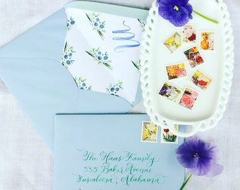 Wedding Calligraphy -- Hand Written Envelope Addressing -- The Zoe Font