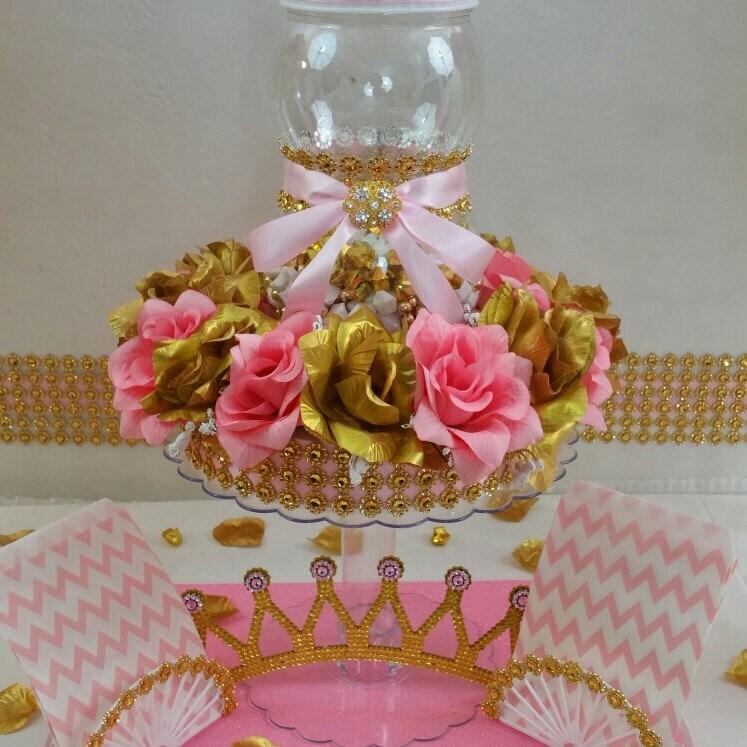 Centro De Mesa De Dulces Buffet Princess Baby Shower Con Baby