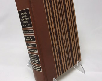 Book Letter Handmade Vintage Condensed Readers Digest Upcycled Brown C0022