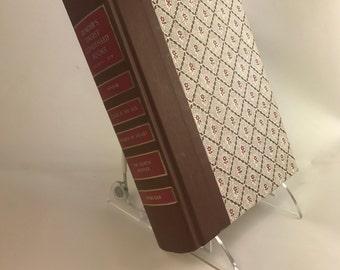 Book Letter Handmade Vintage Condensed Readers Digest Upcycled Brown C0105