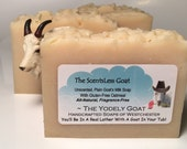 The ScentsLess Goat - NO Coconut Oil - Unscented All Natural Goats Milk - Gluten-Free Oatmeal Soap - Great for Sensitive or Dry Skin, Babies