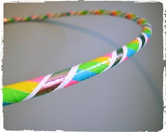 Rainbow Warriors Pink Iridium Dance Hoop Infinity Color Morphing Hula Hoop
