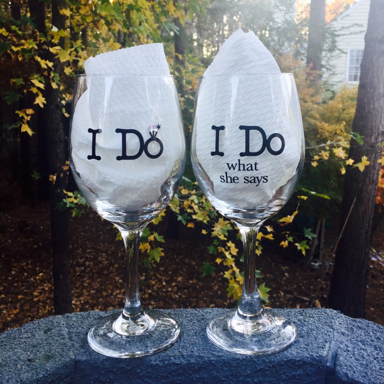 Wedding Wine Glasses Bride And Groom Personalized Gift