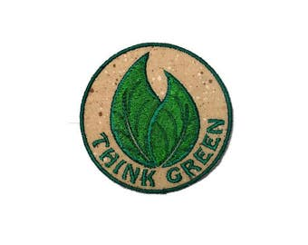 Think green iron on patch
