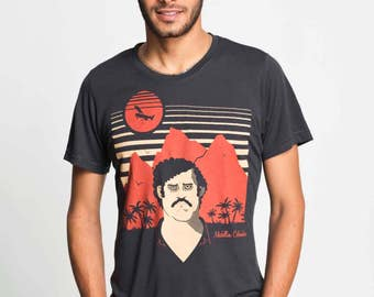 Pablo Escobar, Narcos, Unisex (Mens / Womens) Colombia Medellin screen printed T shirt