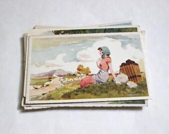 15 Vintage Greeting Unused Postcards - Vintage Unused Blank Postcards