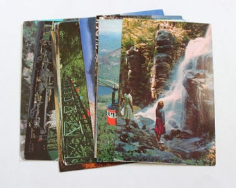 12 Vintage White Mountains New Hampshire Postcards Used - Collage, Mixed Media, Scrapbooking, Assemblage, Paper Craft, Art Journal Supplies