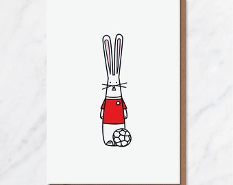 Football Bunny card